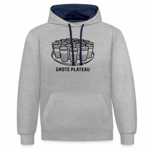Grote Plateau - Contrast hoodie