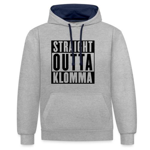Straight outta Klomma - Kontrast-Hoodie