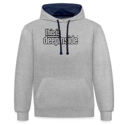This is DEEPINSIDE logo black - Contrast Colour Hoodie