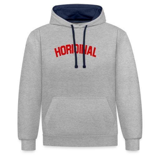 HORIGINAL - Sweat-shirt contraste