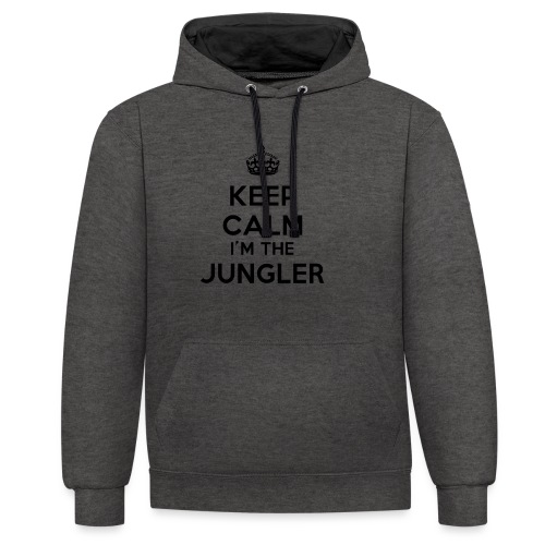 Keep calm I'm the Jungler - Sweat-shirt contraste