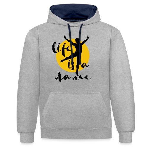 Ballett Tänzer - Kontrast-Hoodie