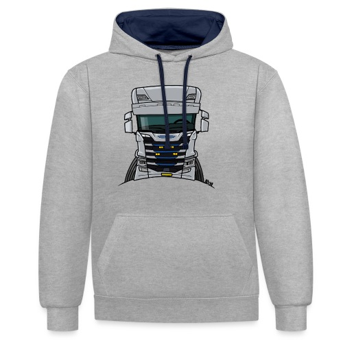 0814 S truck grill wit - Contrast hoodie