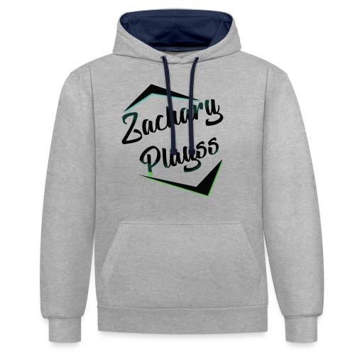 Logo ZacharyPlayss - Contrast hoodie