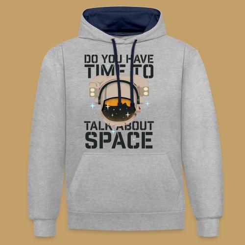 Time for Space - Bluza z kapturem z kontrastowymi elementami