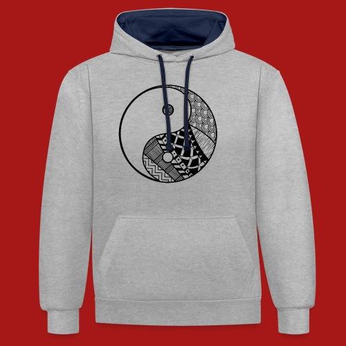 Decorative-Yin-Yang - Kontrast-hættetrøje