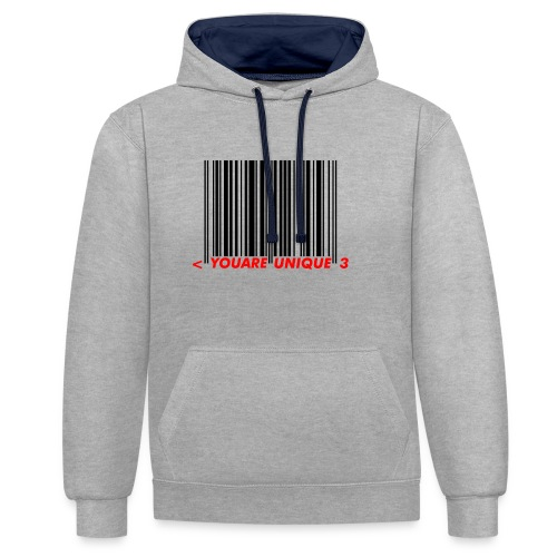 Codebar : You are unique - Sweat-shirt contraste