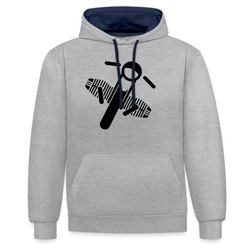 Motorrad Fahrer Shirt Boxerbike - Kontrast-Hoodie