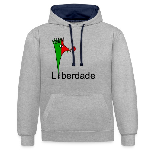 Galoloco - Liberdaded - 25 Abril - Contrast Colour Hoodie