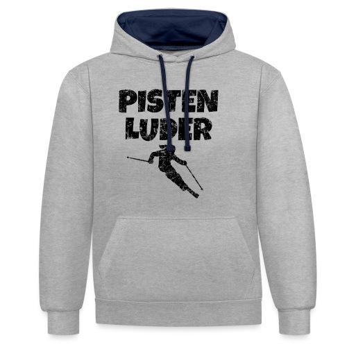 Pistenluder (Vintage/Schwarz) Apres-Ski - Kontrast-Hoodie