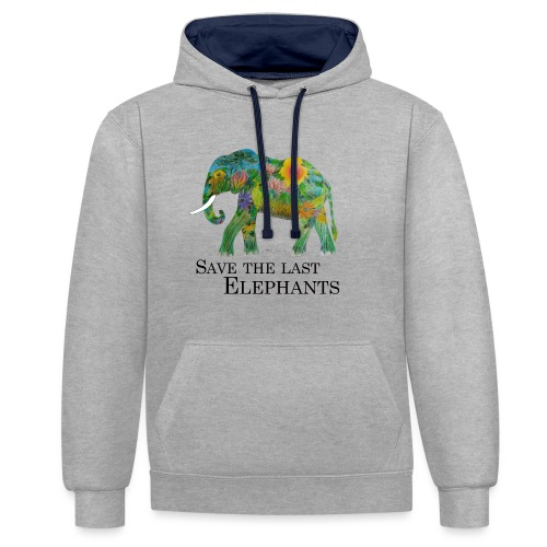 Save The Last Elephants - Kontrast-Hoodie