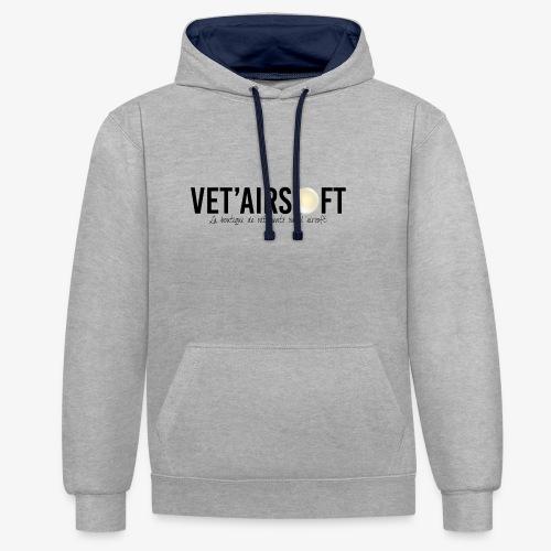 Logo Vet'Airsoft (noir) - Sweat-shirt contraste