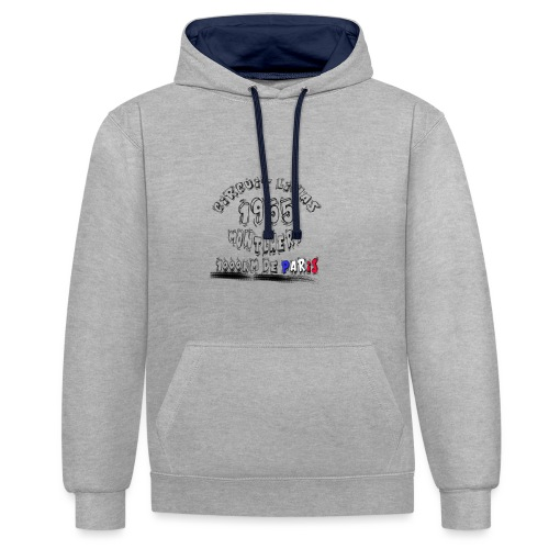 Les anciennes courses automobile - Sweat-shirt contraste