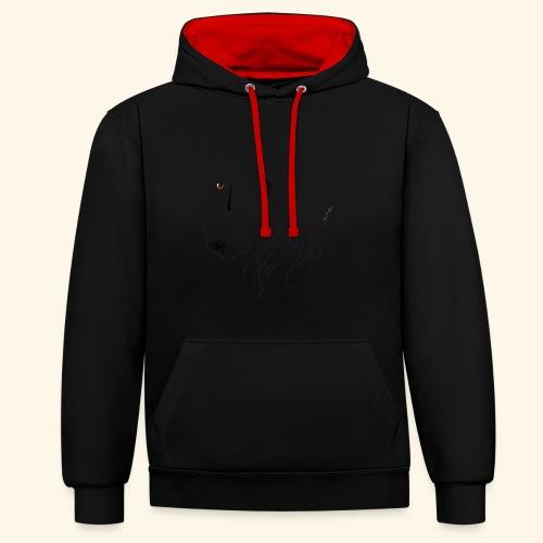 Cheval espagnol (noir) - Sweat-shirt contraste