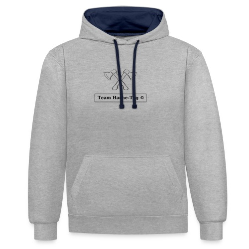 Logo Team Hache-Tag - Sweat-shirt contraste