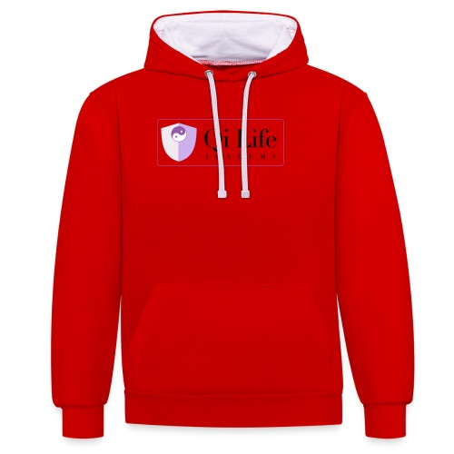 Qi Life Academy Promo Gear - Contrast Colour Hoodie