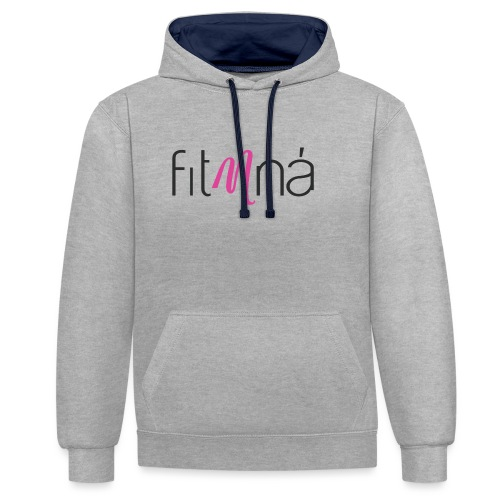 Fit Mna Logo - Contrast Colour Hoodie