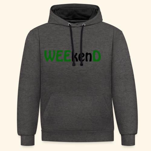 weed - Kontrast-Hoodie