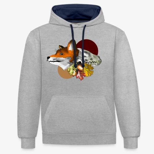 Autumn Foxey - Felpa con cappuccio bicromatica