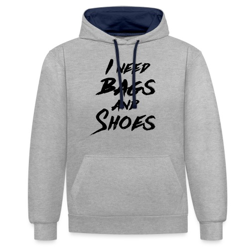 Bags and Shoes - Kontrast-Hoodie