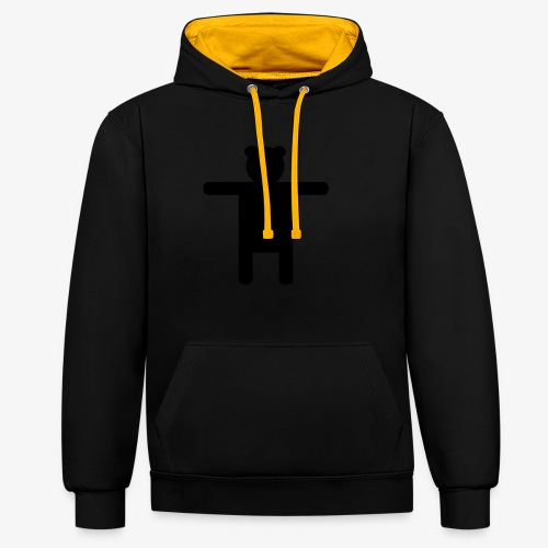 Epic Ippis Entertainment logo desing, black. - Contrast Colour Hoodie