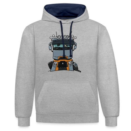 0813 R truck - Contrast hoodie