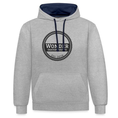 Wonder Longsleeve - round logo - Kontrast-hættetrøje