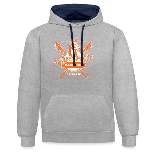 Llamas - Maastricht Lacrosse - Oranje - Contrast hoodie