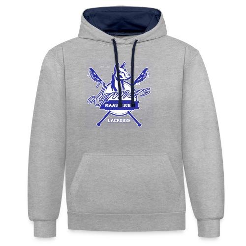 Llamas - Maastricht Lacrosse - Blauw - Contrast hoodie