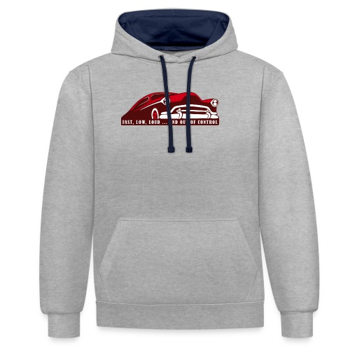 Kustom Car - Fast, Low, Loud ... And Out Of Contro - Kontrast-Hoodie