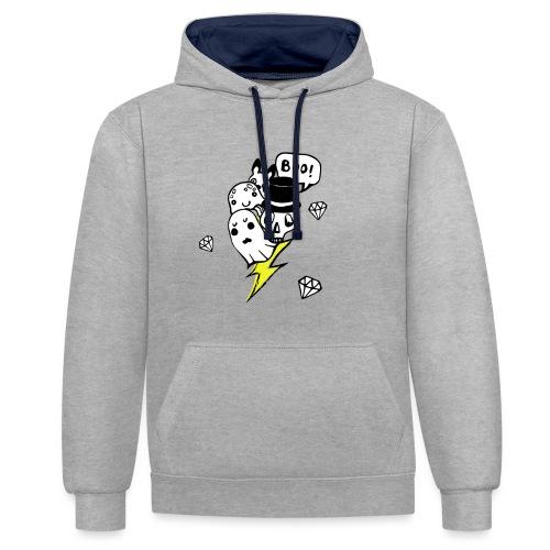 Boo! - Bluza z kapturem z kontrastowymi elementami