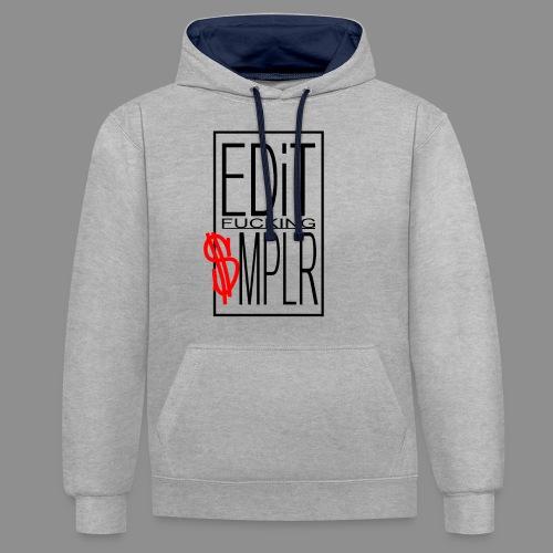 EDiT SMPLR - Kontrast-Hoodie