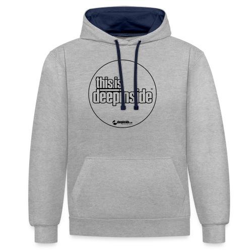 This is DEEPINSIDE Circle logo black - Contrast Colour Hoodie