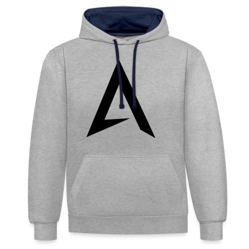 alpharock A logo - Contrast Colour Hoodie