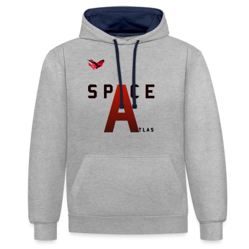 Space Atlas Baseball Long Sleeve Capital A - Kontrast-hættetrøje