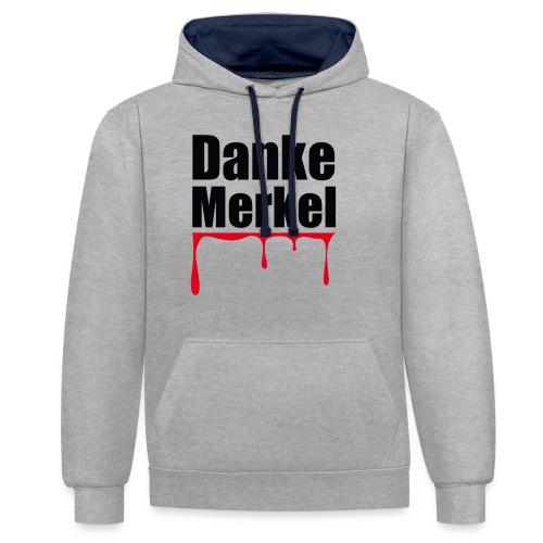 Danke Merkel - Kontrast-Hoodie