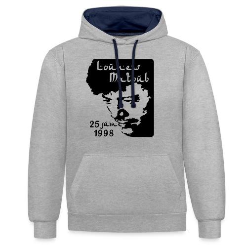 Motif hommage à Lounes Matoub - Sweat-shirt contraste