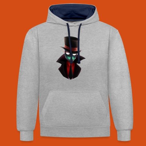 the blackhat - Contrast hoodie