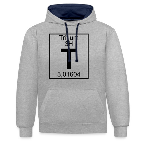 T (tritium) - Element 3H - pfll - Contrast Colour Hoodie