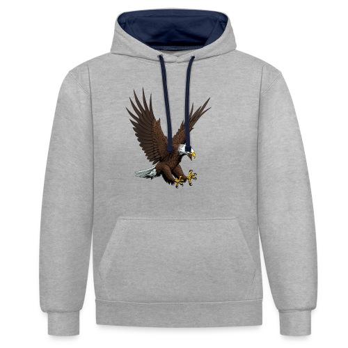 Adler sturzflug - Kontrast-Hoodie