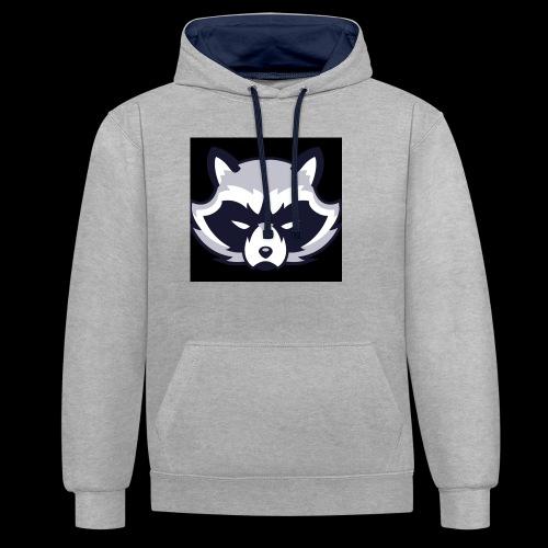 WaschbeerKopf Logo :) - Kontrast-Hoodie