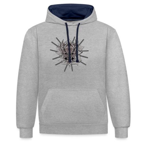 Lotus Of The Samurai - Contrast hoodie