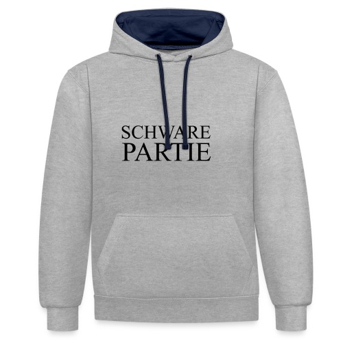 schwarePartie png - Kontrast-Hoodie