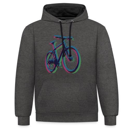 Bike Fahrrad bicycle Outdoor Fun Mountainbike - Contrast Colour Hoodie