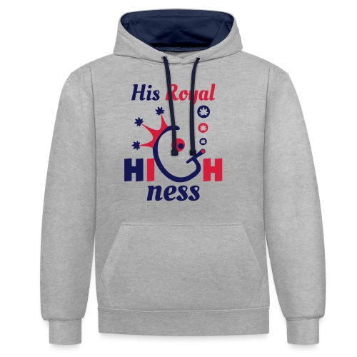 His Royal Highness - Contrast Colour Hoodie