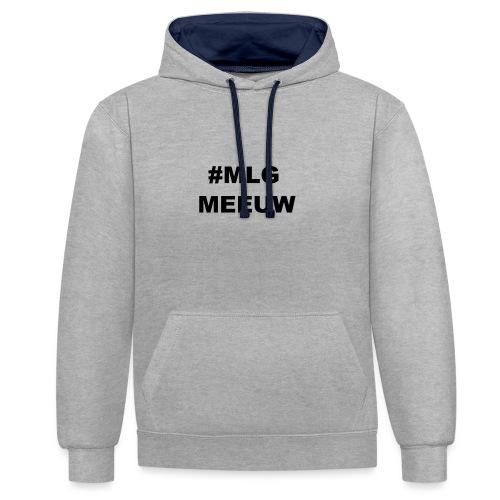 MLG MEEUW - Contrast hoodie