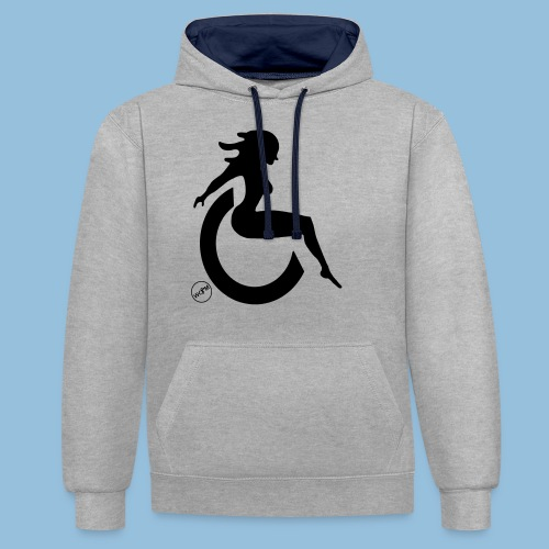Sexywheelchairlady1 - Contrast hoodie