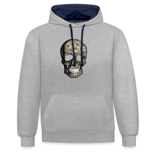 Skull Money - Sudadera con capucha en contraste