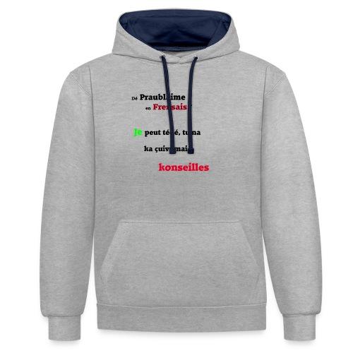Probleme en français - Sweat-shirt contraste