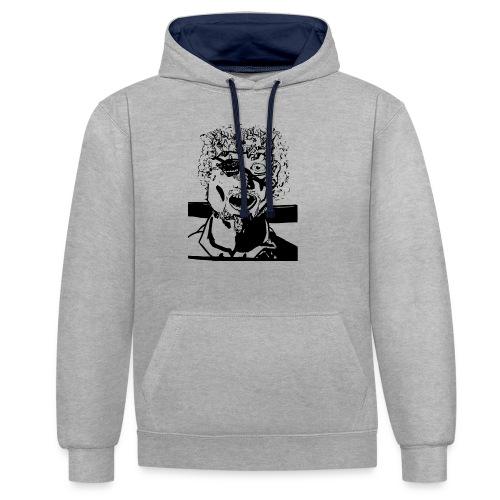 mindblownface1 - Contrast hoodie